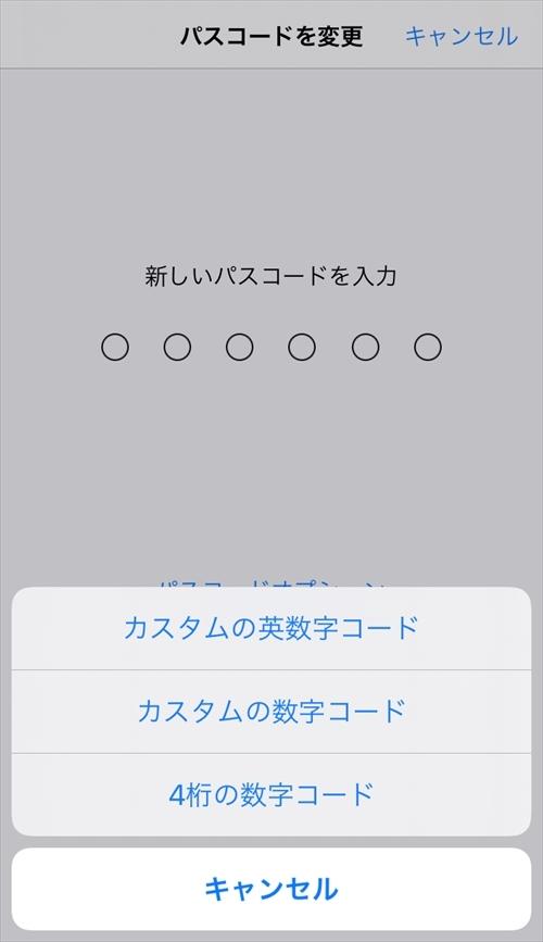 パスコードの設定画面の「パスコードオプション」でパスコードの桁数を増やせる (出所:筆者、以下同)