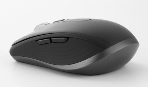 側面はシリコーン仕上げで手になじみやすい。左側面に2つのボタンがある