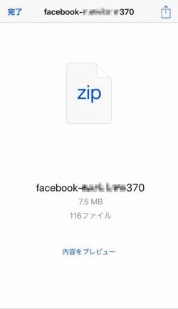 ファイルはZIP形式で圧縮されています。「ファイル」で開き、「iCloud Drive」に保存するとプレビュー機能で参照できます。見づらい場合は、パソコンに転送しましょう