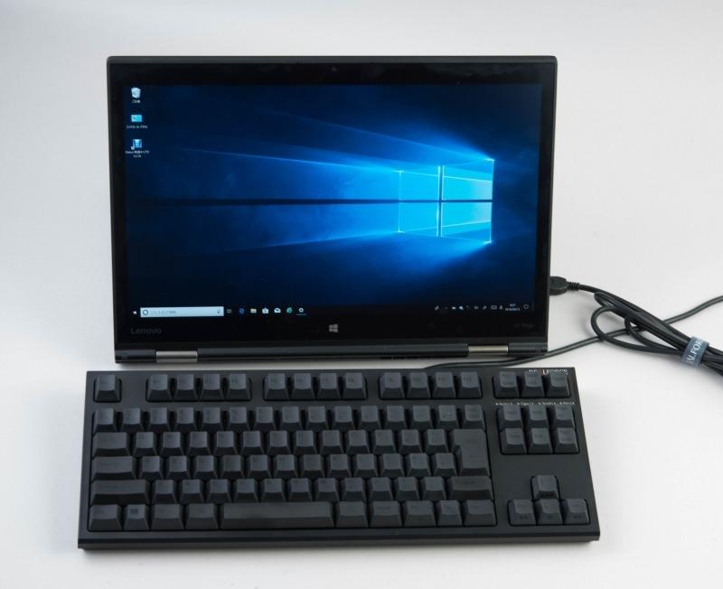 USB接続でもキーボードならケーブルはさほど邪魔にはならないと思う