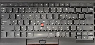 日本語キーボードはスペースキーが短く、「変換」や「無変換」などのキーがついている