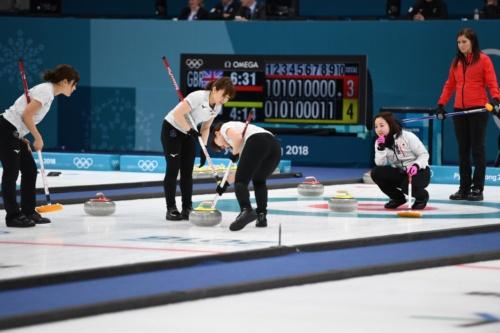 2月24日に行われたカーリング女子3位決定戦。日本が銅メダルを獲得した(写真:雑誌協会代表撮影)