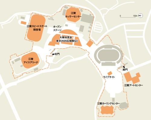 江陵オリンピック・パークの配置図