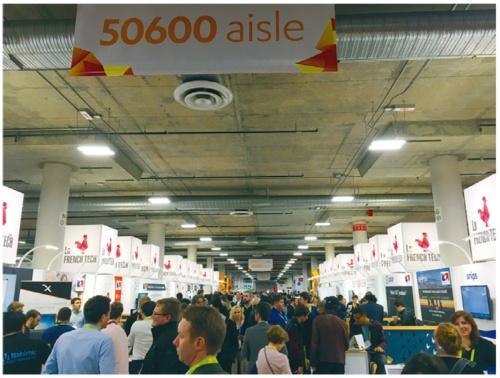2018年1月に開催された「2018 International CES」会場では、フレンチテックの展示スペースが設けられ注目されていた(写真提供:フランス大使館 貿易投資庁 ビジネスフランス(C)Eve Gesbert)