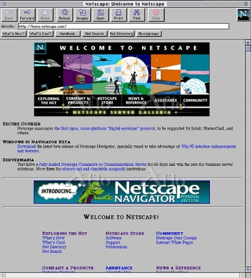 米ネットスケープコミュニケーションズのWebブ ラウザー「Netscape Navigator」
