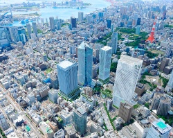 虎ノ門ヒルズエリア開発プロジェクト全景のイメージ(資料:森ビル)