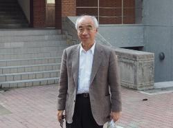 和田章・東京工業大学名誉教授。写真は、16年2月の台湾南部地震の現地調査の際に撮影したもの