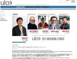 国際建築家連合(UIA)が7月28日までに、2017UIAゴールドメダルの受賞者が伊東豊雄氏に決定したと発表した。伊東氏は2014年にもノミネートされたが、2度目の挑戦で賞を獲得した(資料:UIA)