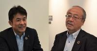 左が大林組グループ経営戦略室の堀井環・経営基盤イノベーション推進部長、右が技術本部長を務める梶田直揮常務