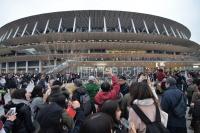 2019年11月に完成した新たな国立競技場。日本スポーツ振興センター(JSC)が12月21日にオープニングイベントを開催し、全国から約6万人の観客が集まった