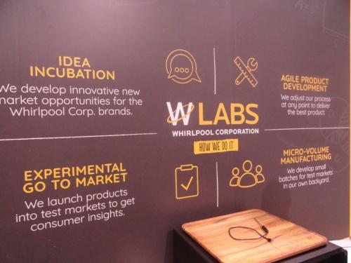 米ワールプールは社内ラボ「WLABS」の成果を展示