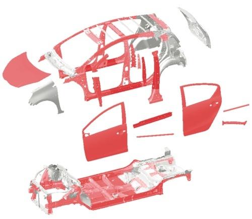 図7 高張力鋼板の採用例