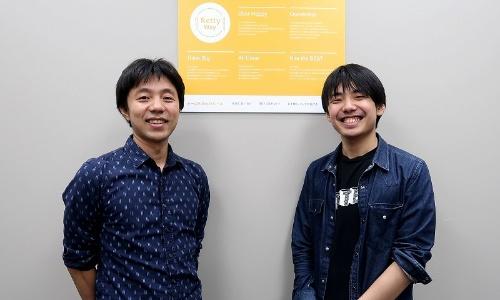 左からRettyの樽石将人CTO(最高技術責任者)と、Software Engineerの竹野峻輔氏