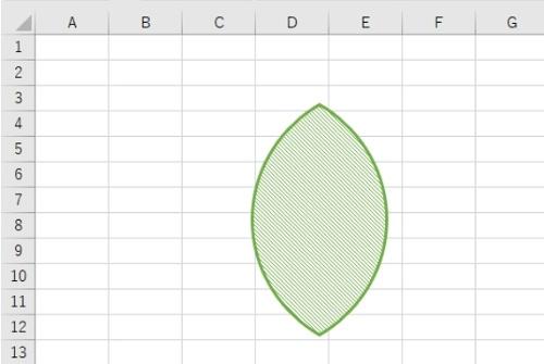 「図形」のメニューにない変わった形状の図形。しかしこの図形も図形描画機能を用いて作成したものだ