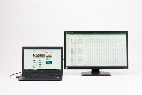 複数のディスプレイにまたがってデスクトップを表示し、作業効率を飛躍的に高めるマルチディスプレイ