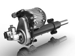 図1 ZFが開発した商用車向け電動パワステ「ReAX EPS」