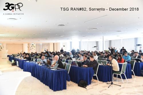 イタリアのソレントで開催された3GPP標準化会合の様子