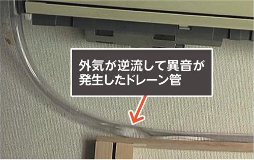 〔写真1〕ドレーン管内に外気が逆流