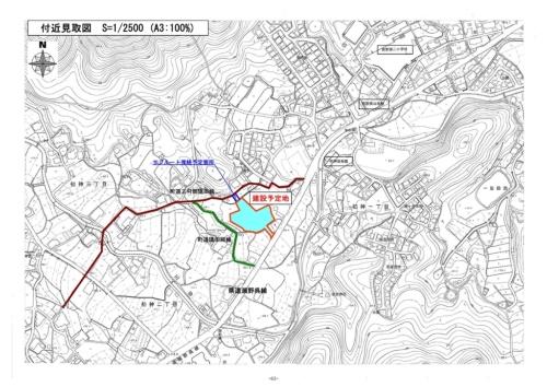建設予定地見取り図(資料:広島県熊野町)