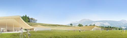 阿蘇山を望む広場(資料:大西麻貴+百田有希/o+h・産紘設計JV)