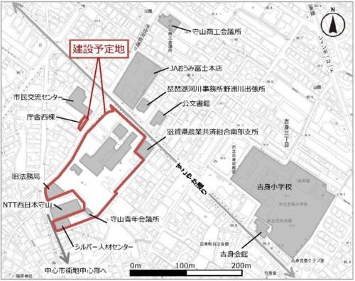 新庁舎建設予定地(資料:滋賀県守山市)