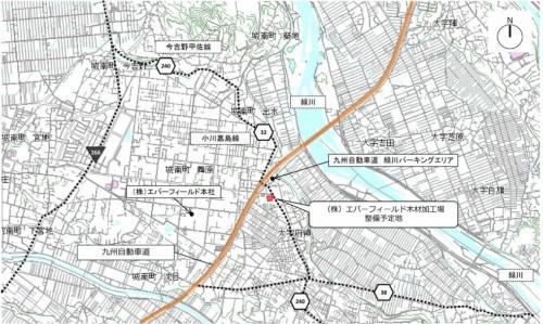 建設予定地の位置図(資料:熊本県)