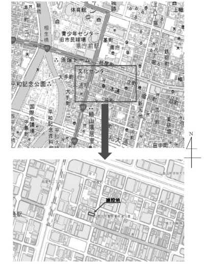 付近見取り図(資料:広島県)