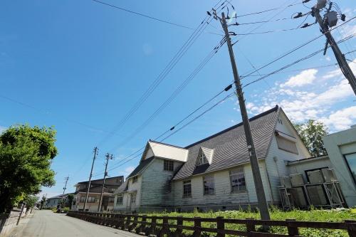 旧雪調庁舎の北西側外観(撮影:日経 xTECH)