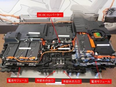 電池モジュールは前席下に6個、後席下に8個配置
