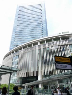 参天製薬本社が入居するグランフロント大阪(大阪市)