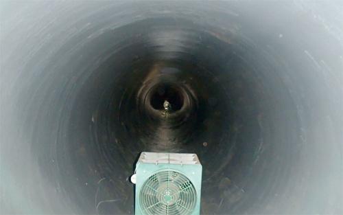 事故が起こった水管橋の内部(写真:愛知県)