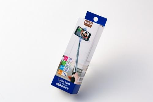 セリアで購入した「iPhone用シャッター付自撮り棒」