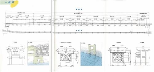 関西国際空港連絡橋の一般図。同橋は土木学会の田中賞を受賞している(資料:関西国際空港)