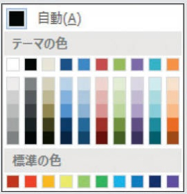 Word 2007/2010標準カラーパレット
