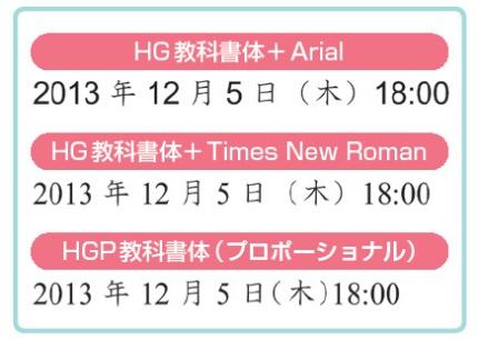 図2 日本語用と英数字用のフォントは同じタイプにそろえる。同じフォントでもプロポーショナルフォントを使うと字間が詰まり、シャープに見える