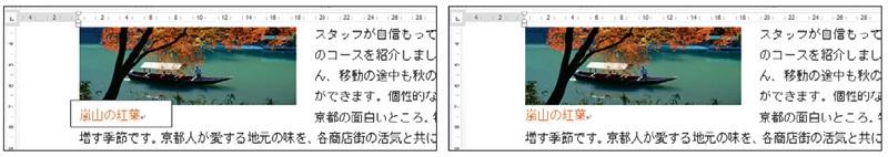 図9 テキストボックスをオブジェクトに重ねるときは「塗りつぶしなし」「線なし」で透明の枠にすると、周囲を気にせず配置できる