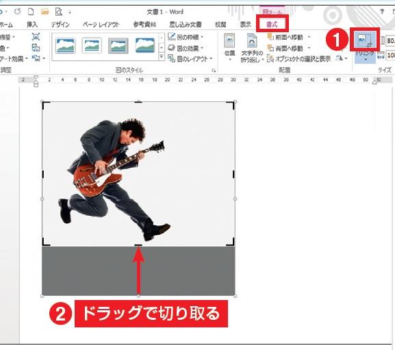 【鉄則】文書で映える画像表現を見つける 図13 図の周囲は「トリミング」で切り取ることができる