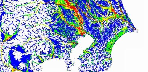 関東の浸水ハザード評価結果