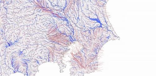 関東での水の流動経路