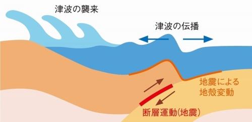 地震と津波の発生