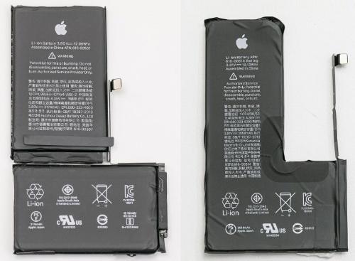 XS MaxとXSのLiイオン2次電池