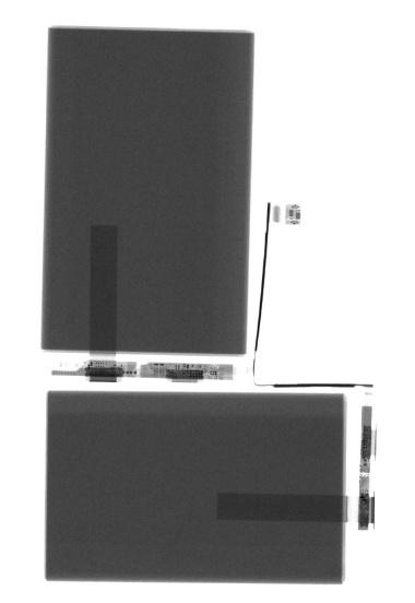 iPhone XS MaxのLiイオン2次電池のX線写真