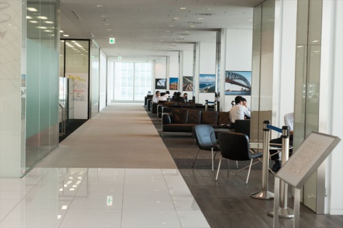 NTTコミュニケーションズの汐留オフィス
