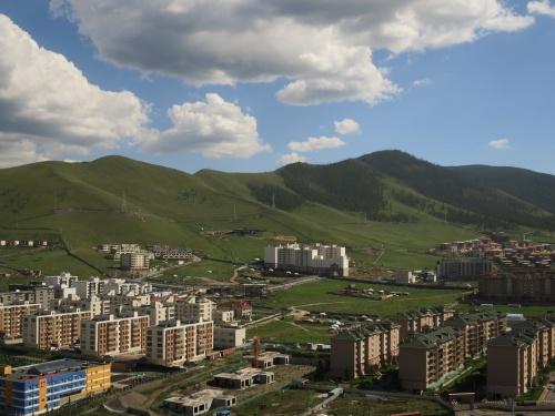 モンゴルの首都ウランバートルの景色