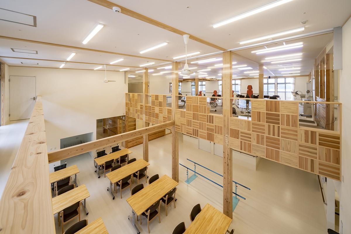 喜多氏が設計し、2018年に完成した準耐火建築物の地域密着型福祉施設あんきな家清水ヶ丘(写真:建築舎KIT)