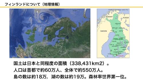 フィンランドの地理情報(資料:坂口大史)