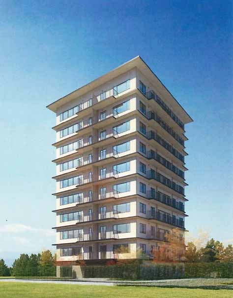 泉区高森2丁目プロジェクト(仮称)の完成予想図。19年2月に完成する予定だ(資料:竹中工務店)