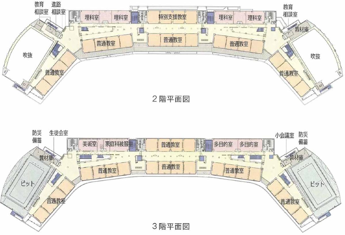 2、3階平面図(資料:竹中工務店)
