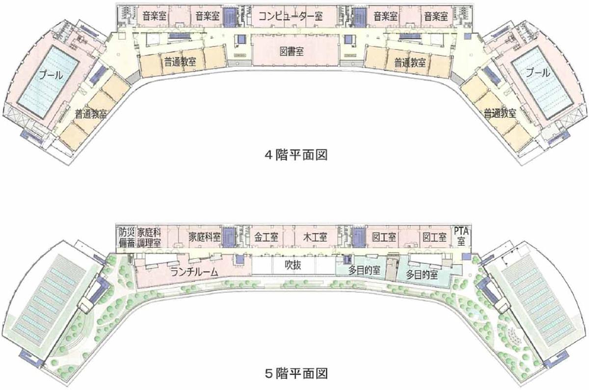 4、5階平面図(資料:竹中工務店)
