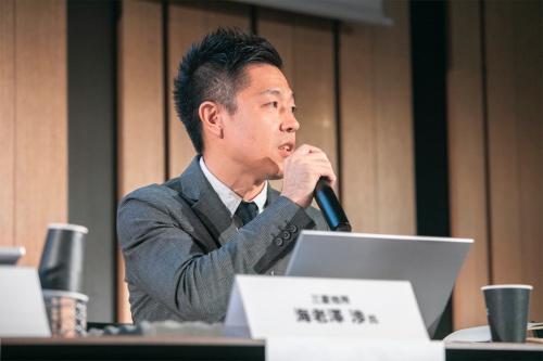 三菱地所CLTユニット主事の海老澤渉氏(写真:渡辺 慎一郎)